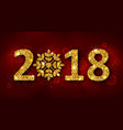 glitter background with golden dust for happy new vector image