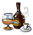 liquer with coffee vector image