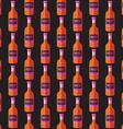 pop art whiskey bottle seamless pattern vector image