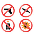 prohibiting signs vector format vector image