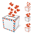 Love letterbox vector image