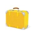 yellow trawel suitcase vector image vector image