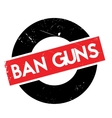 Ban Guns rubber stamp vector image