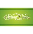 Spring Time Vintage Lettering Design Background vector image vector image