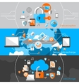 Data Protection Security Banners vector image