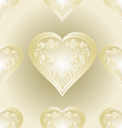 Seamless texture heart of ornaments vector image