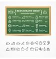 Menu Restaurant Board vector image