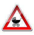 A warning sign baby vector image