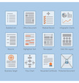 Abstract conceptual web and paper document set vector image