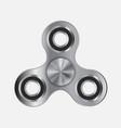 hand fidget steel metallic spinner toy vector image