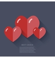 modern flat heart background Eps 10 vector image