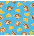 monkey wallpaper pattern vector image