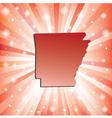 Red Arkansas vector image