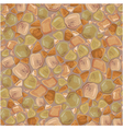 Seamless pattern - Stones Background in brown and vector image
