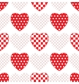 Seamless pattern with applique hearts vector image