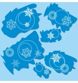Snowflake ragged rectangle design 004 vector image