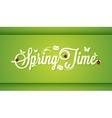Spring Time Vintage Lettering Design Background vector image