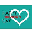 Valentine s Day Heart poster Typography vector image