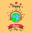 world music day colorful style vector image