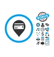 Credit Card Pointer Flat Icon with Bonus vector image