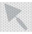 stencil of brick wall vector image
