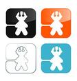 Man Icons - Symbols Set vector image