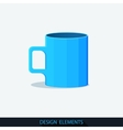 Blue Cup in the flat style vector image