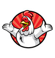 cheerful chicken vector image
