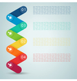 Number Steps 3d Infographic 1 to 4 A vector image