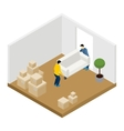Moving In And Out vector image vector image