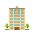 Isolated building vector image
