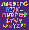 comic alphabet vector image