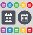 calendar page icon sign A set of 12 colored vector image