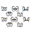 Cartoon eyes with different emotions vector image