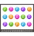 Documents Icon set 1 of 2 Rainbow Series vector image