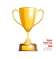 Golden Trophy Cup Isolated On White Background vector image