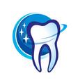 Health dent logo design cosmetic dental vector image