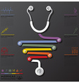 Medical And Health Connection Timeline Business vector image