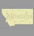 montana accurate exact detailed state map vector image