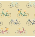 Perfect seamless pattern with colorful bikes vector image