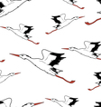 White Stork in flight seamless wallpaper vector image