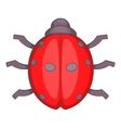 Ladybug icon cartoon style vector image