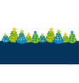 Xmas holiday header with cute Christmas tree vector image vector image