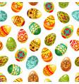 easter egg seamless pattern background vector image
