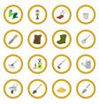 garden cartoon icon circle vector image