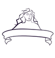 Emblem with woman vector image vector image
