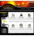 Automobile Service Website Template vector image