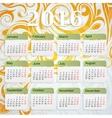 Year 2016 calendar vector image vector image