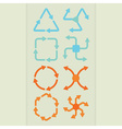 Abstract direction arrows icons set vector image