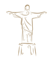 christ the redeemer vector image vector image